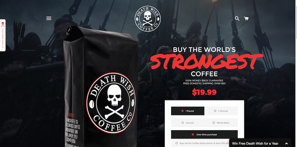 World s Strongest Coffee – Death Wish Coffee Company