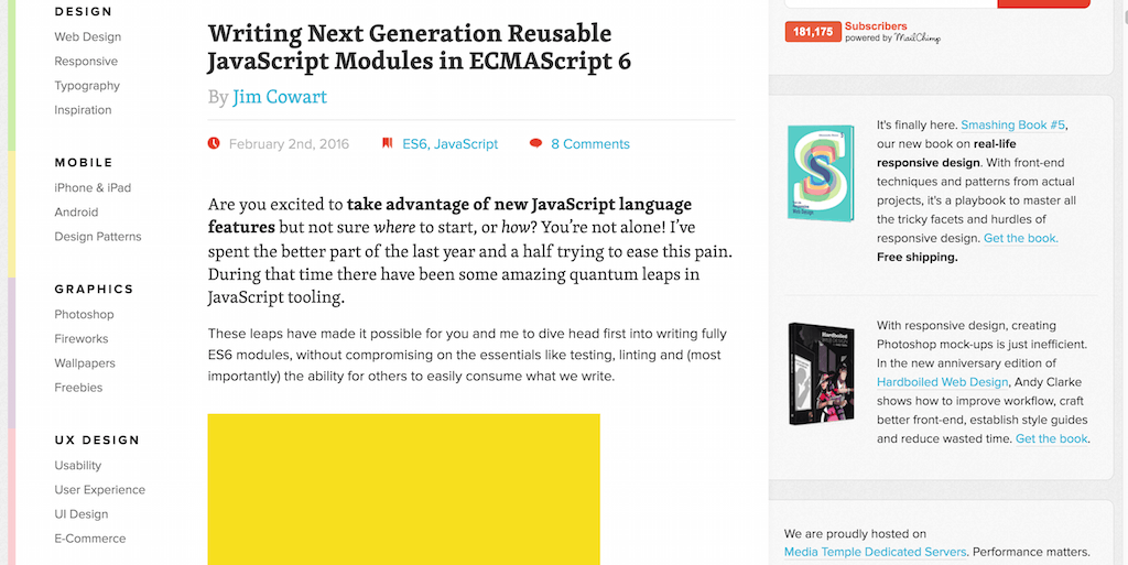 Writing Next Generation Reusable JavaScript Modules in ECMAScript 6 – Smashing Magazine