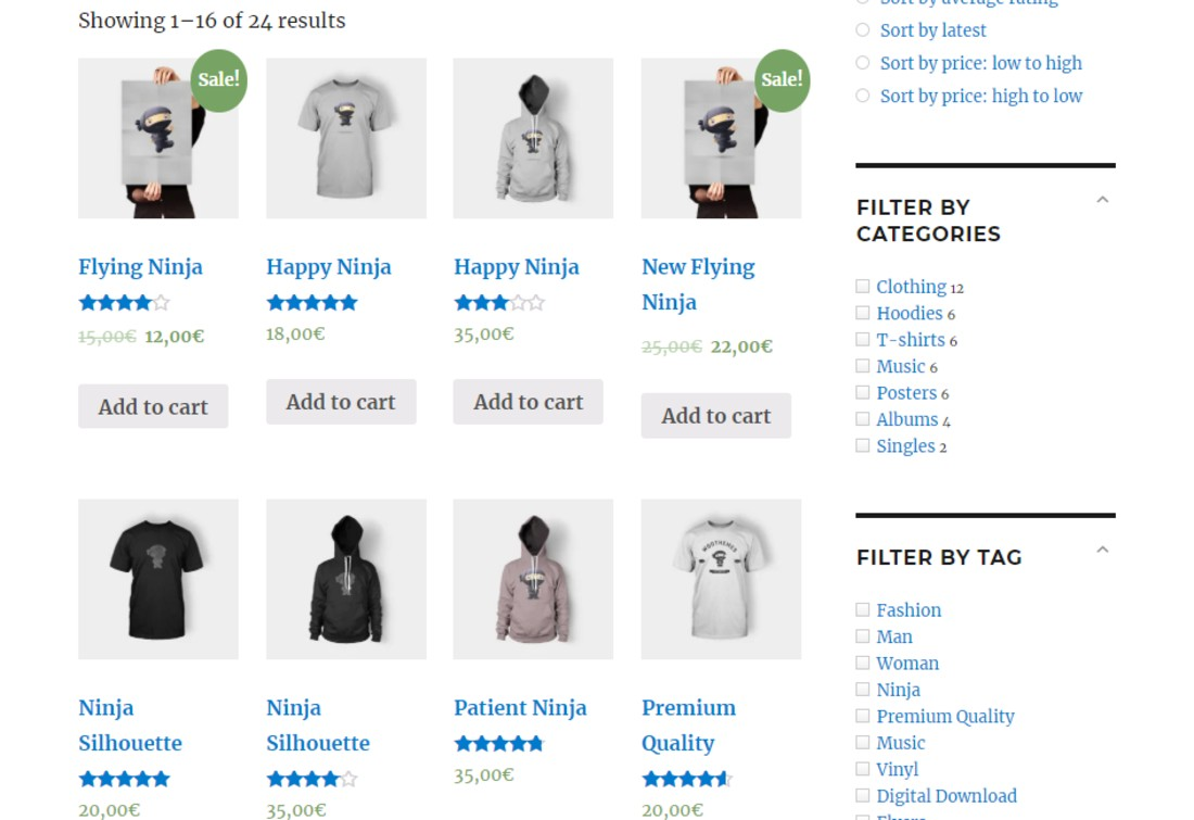 Simple WooCommerce Product FIlter