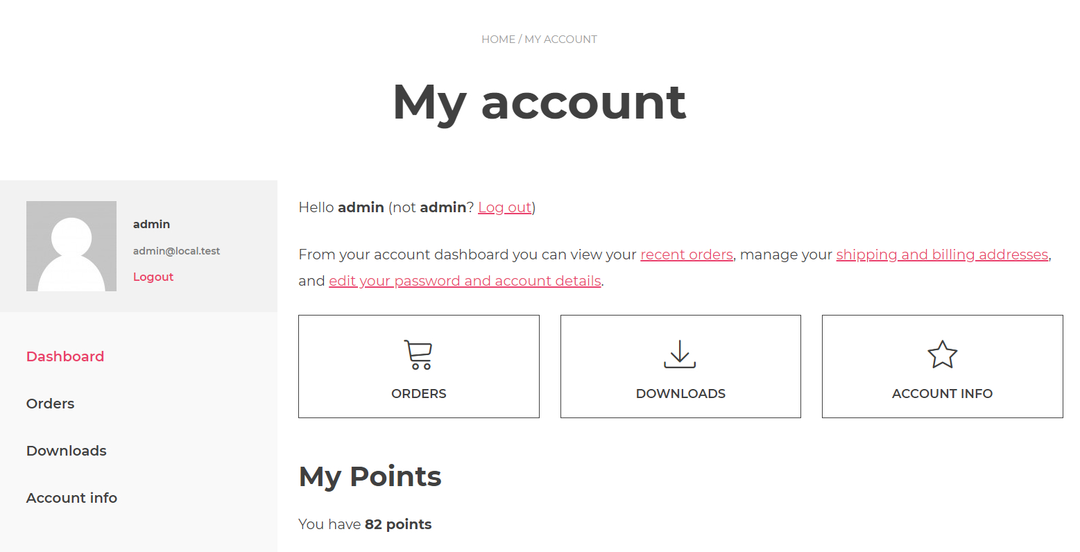 Simple WooCommerce Points and Rewards
