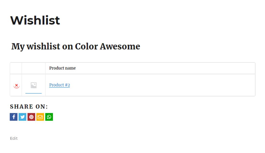 YITH WooCommerce Wishlist Demo Page