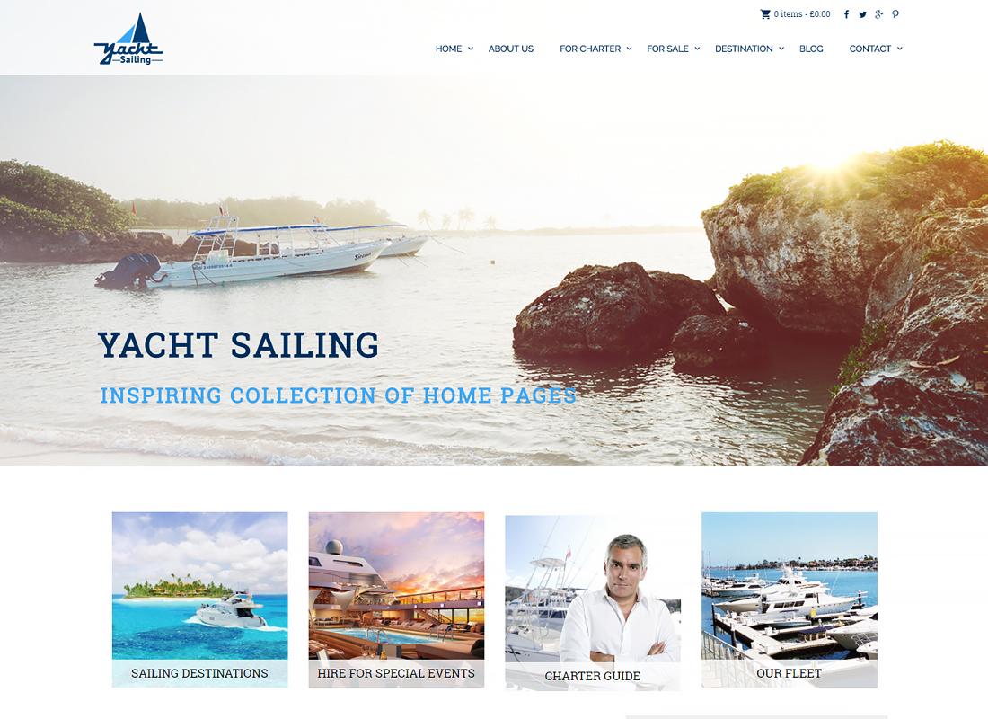 Yacht Sailing | Marine Charter WordPress Theme