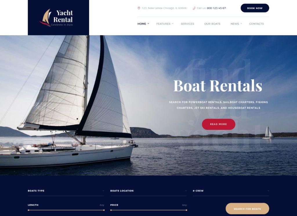 Yacht Rental | Yacht and Boat Rental Service WordPress Theme