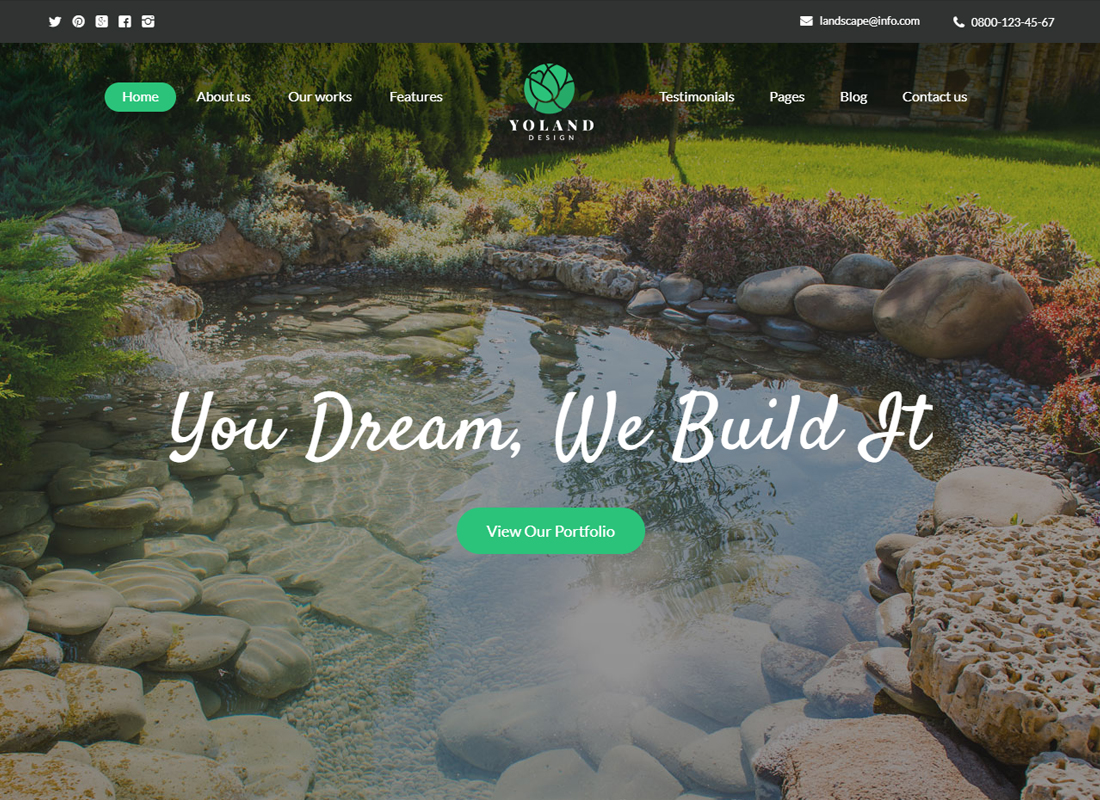 Yoland -Landscape Design & Garden Accessories Store WordPress Theme