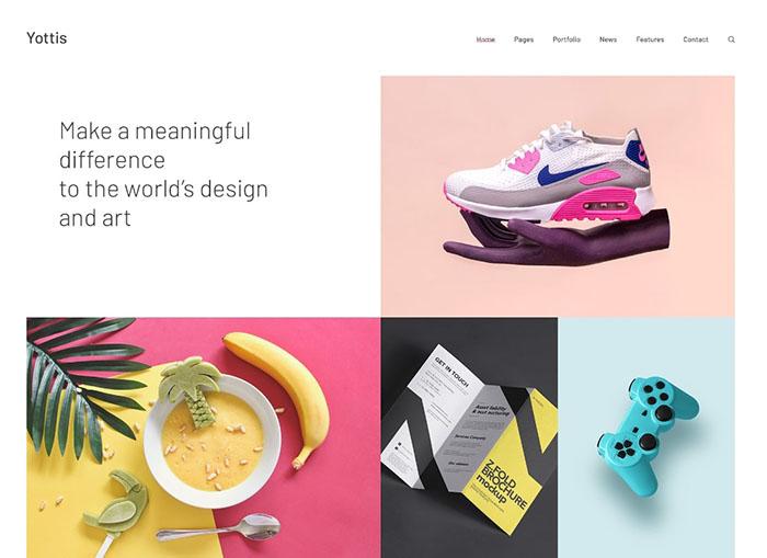 Yottis | Personal Creative Portfolio WordPress Theme + Store