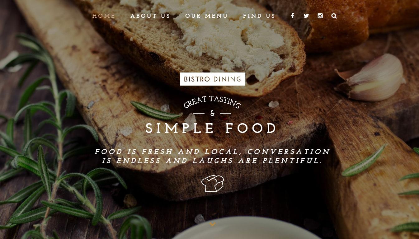 You Theme Review Demo Restaurant