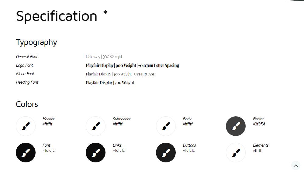 You Theme Review Portfolio Info