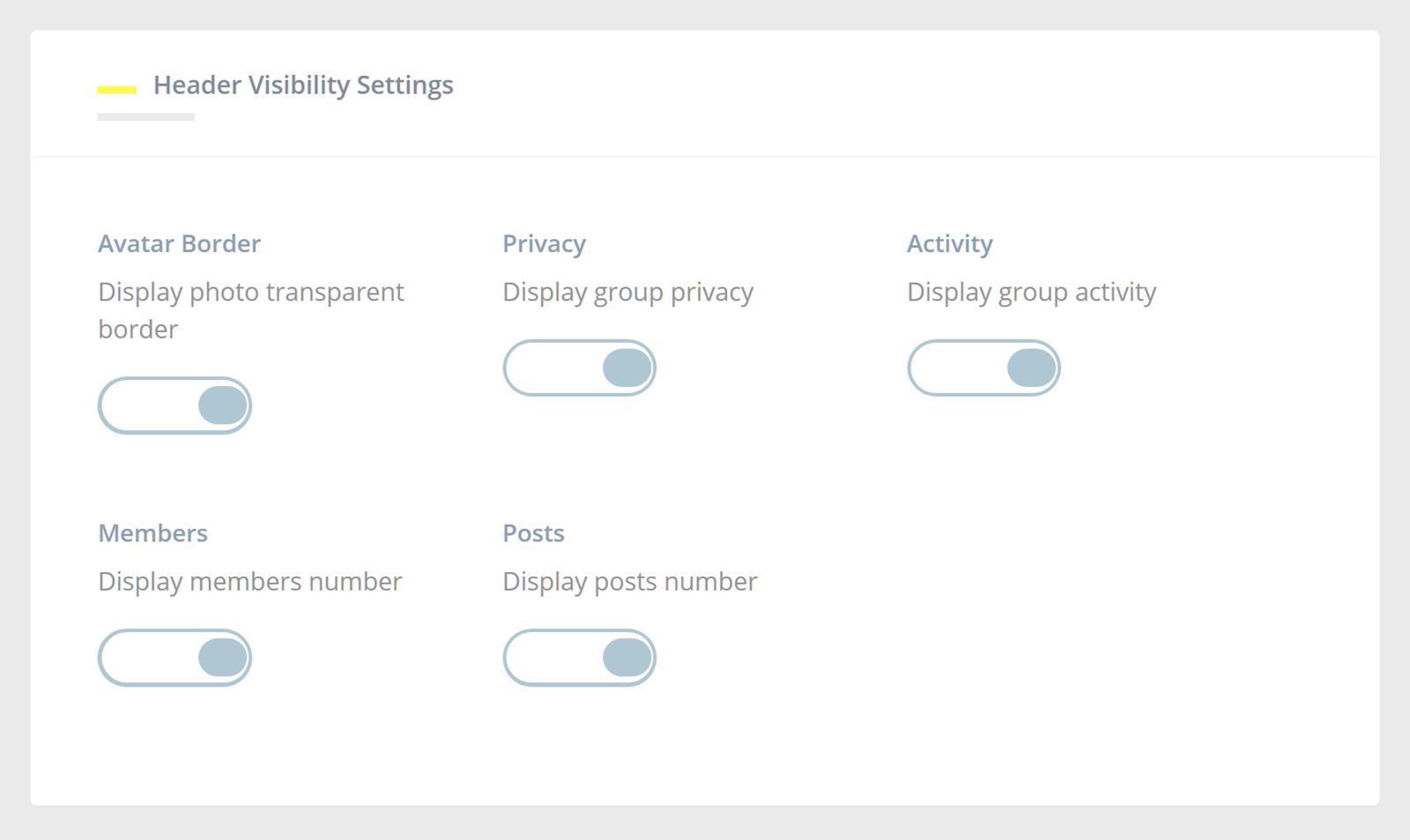 Youzer Plugin Group Settings
