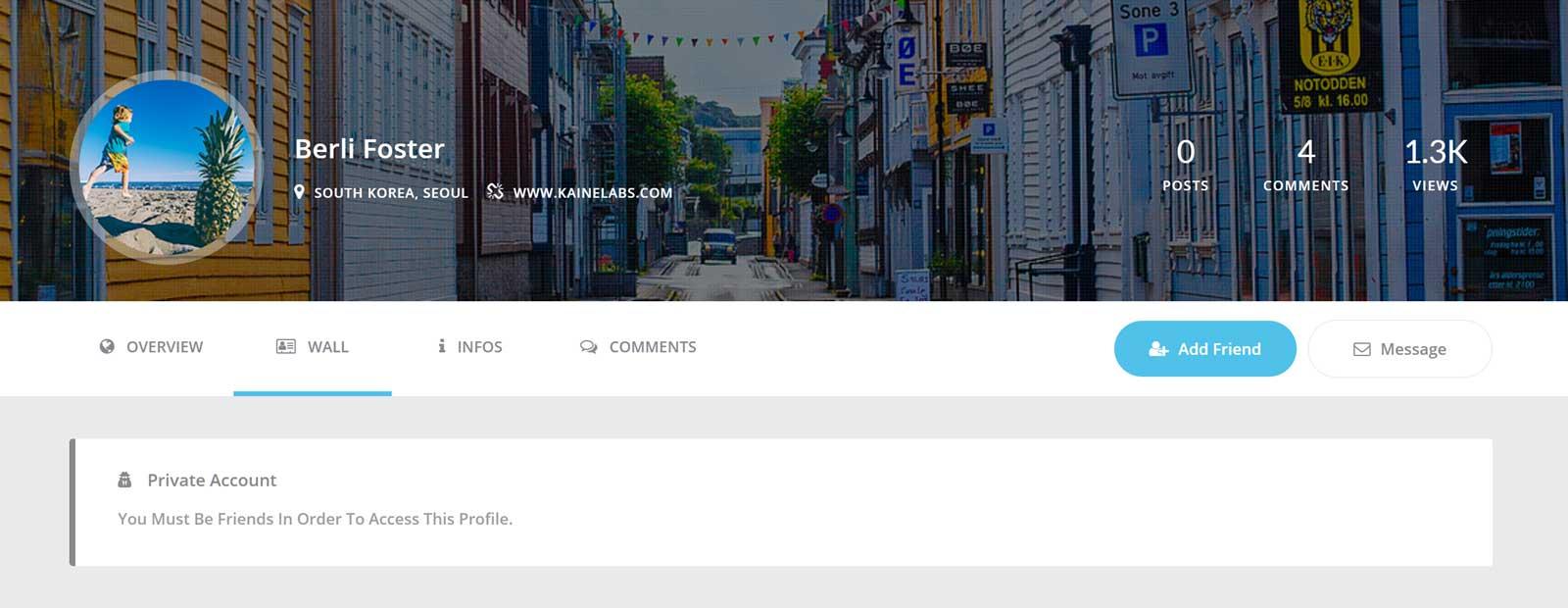 Youzer Private Profile