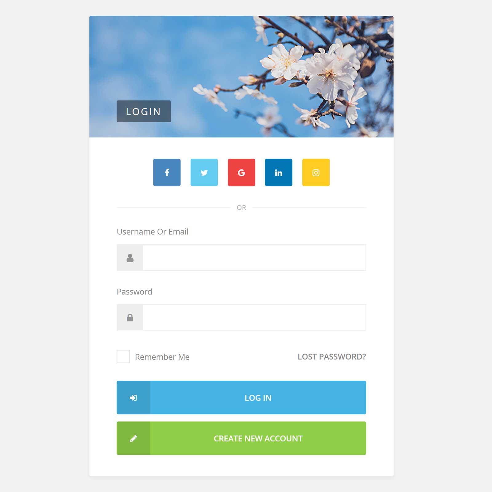 Youzer login page