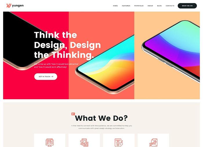 Yungen   Modern Digital Agency Business WordPress Theme