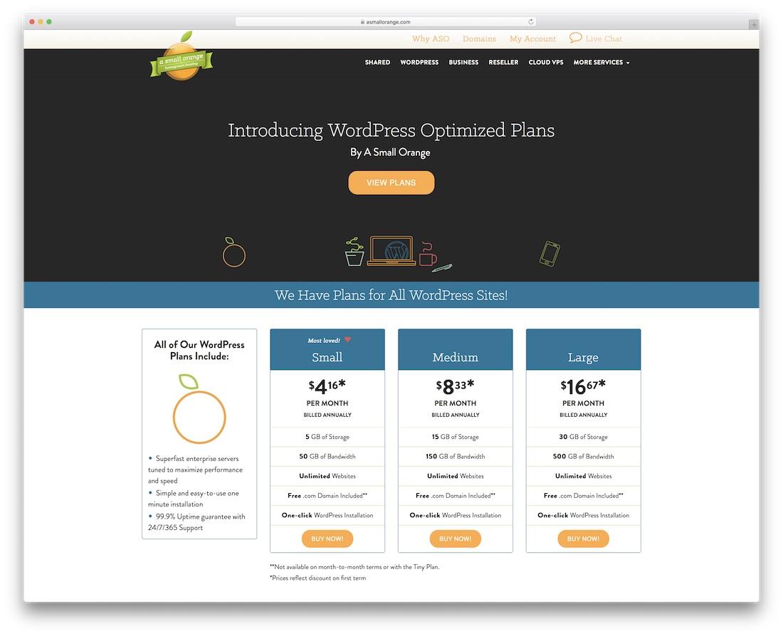 a small orange cheap hosting for wordpress