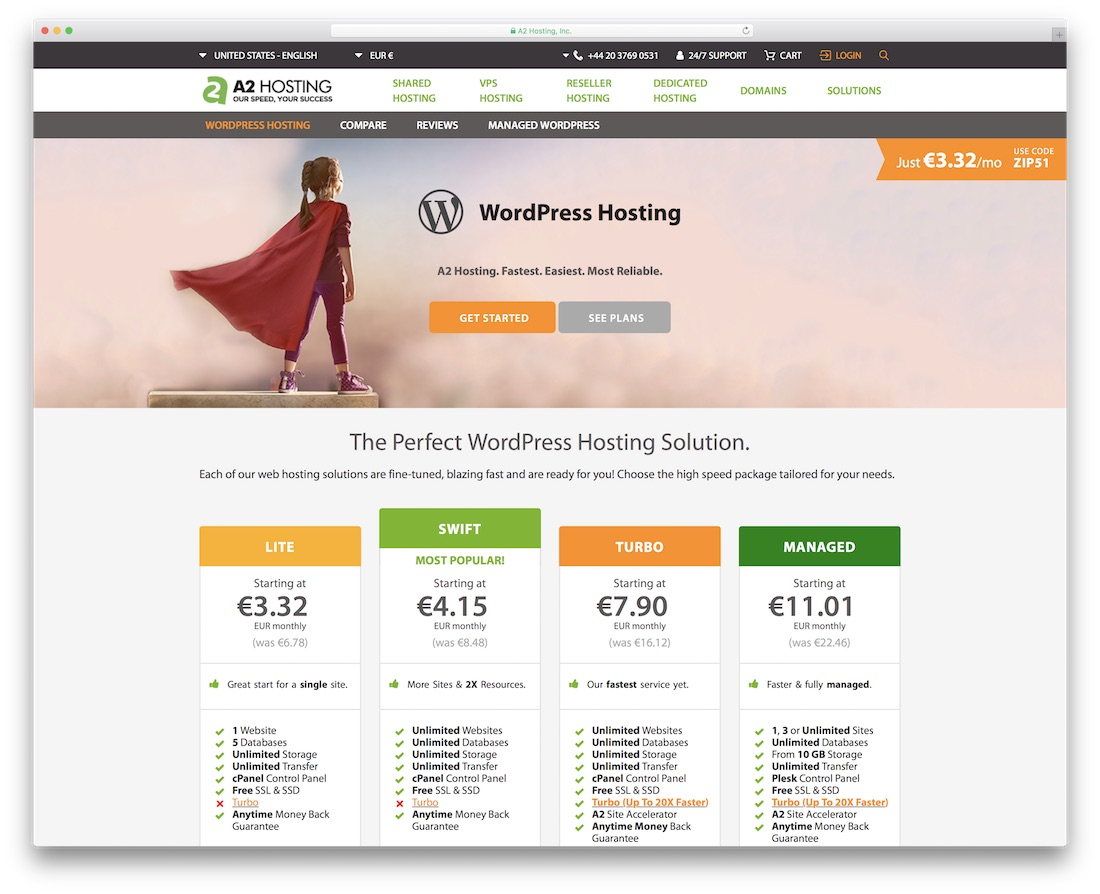 a2 cheap hosting for wordpress
