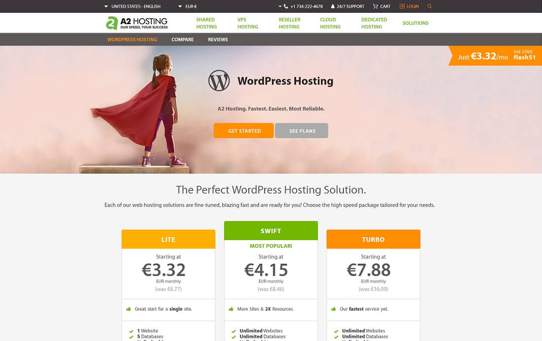a2 cheap hosting wordpress