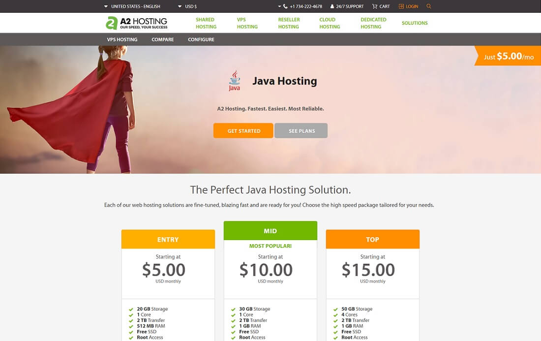 a2 java hosting