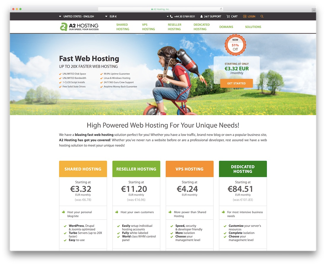 a2 web hosting for personal website