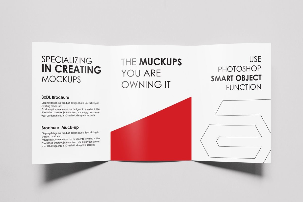 A4 or A5 Trifold Brochure Mockups Set