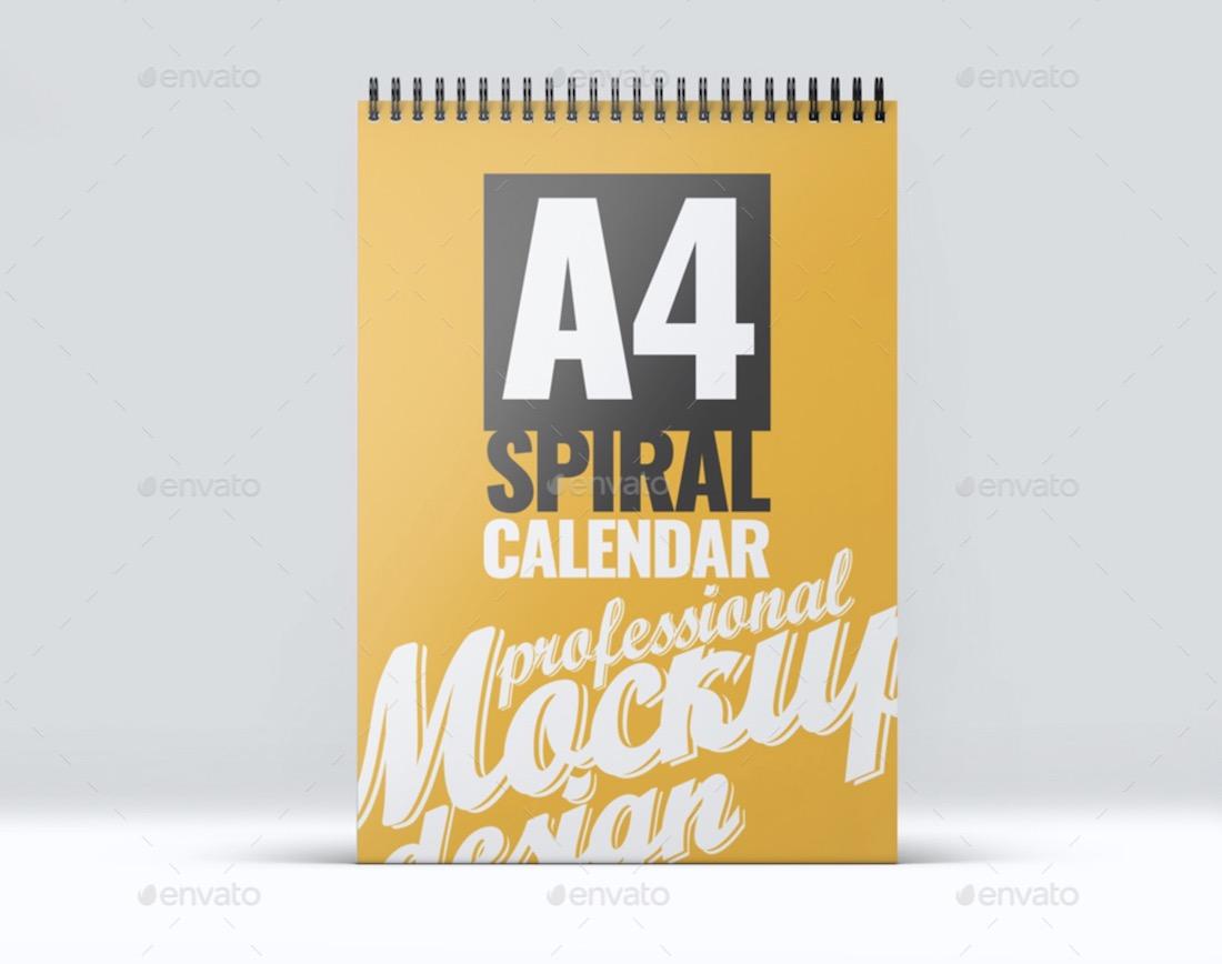 a4 calendar mockup