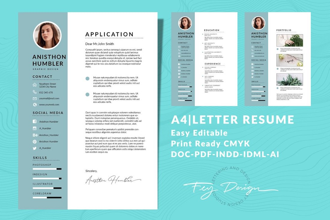 a4 letter cv resume templates