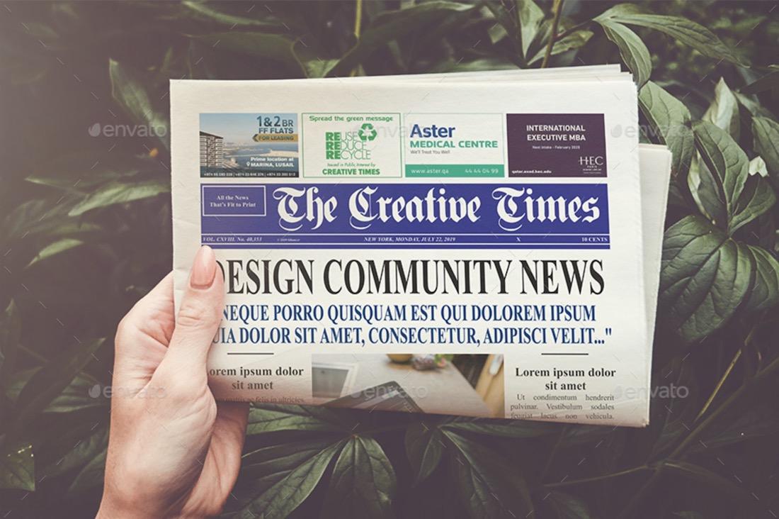 a4 newspaper mockup