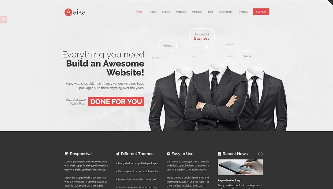 aaika joomla business template