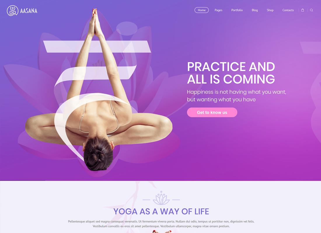 Aasana | Health and Yoga WordPress Theme