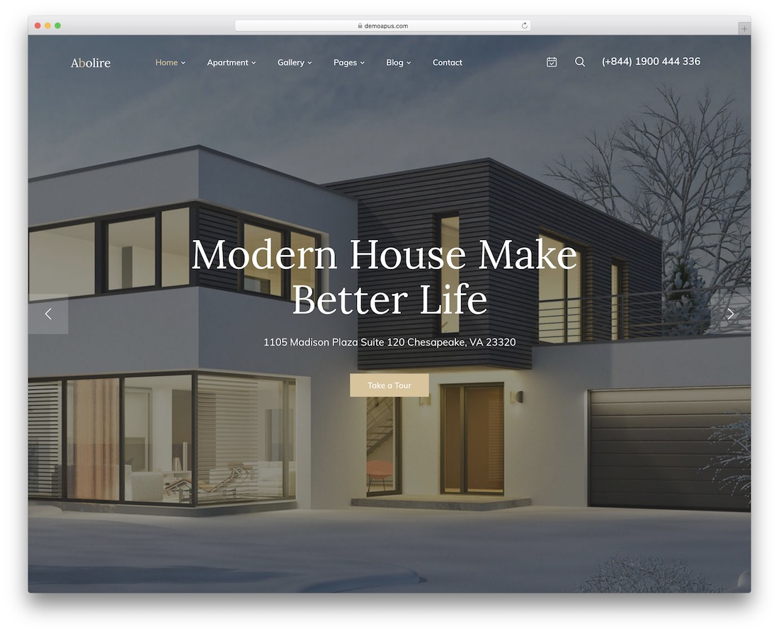abolire property rental wordpress theme
