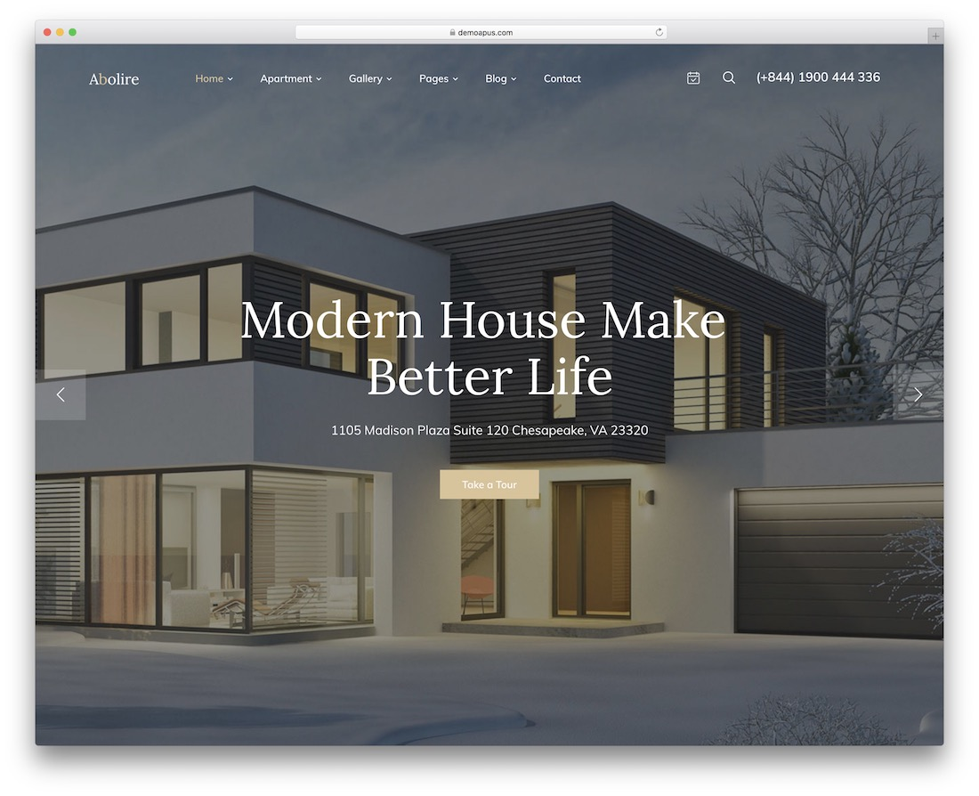abolire single property wordpress theme