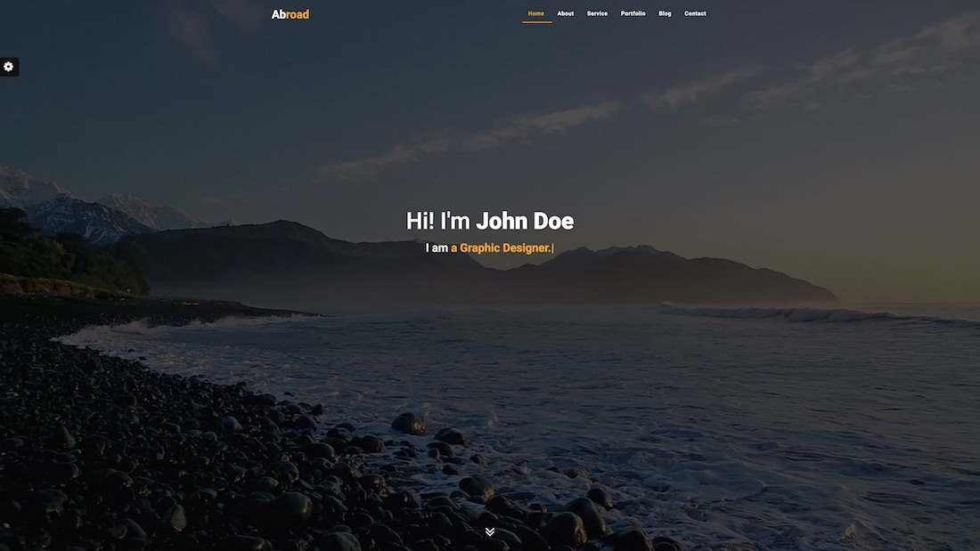 abroad graphic design website template