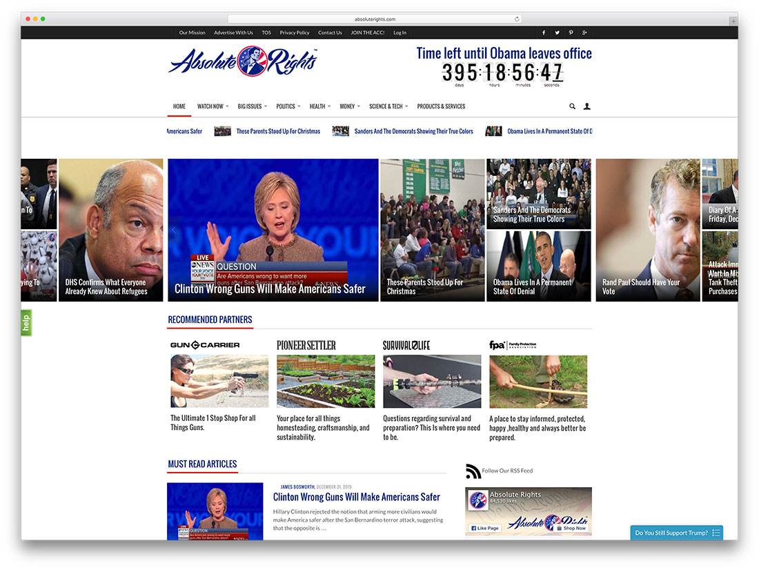 absoluterights-political-news-site-with-woocommerce