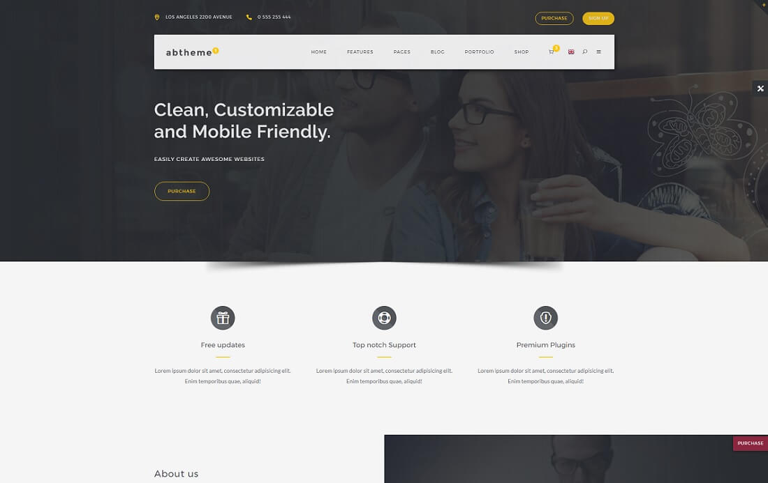 abtheme bootstrap business website template