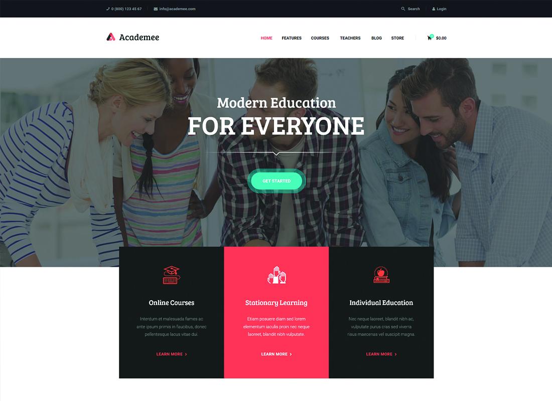 Academee - Education Center & Training Courses WordPress Theme