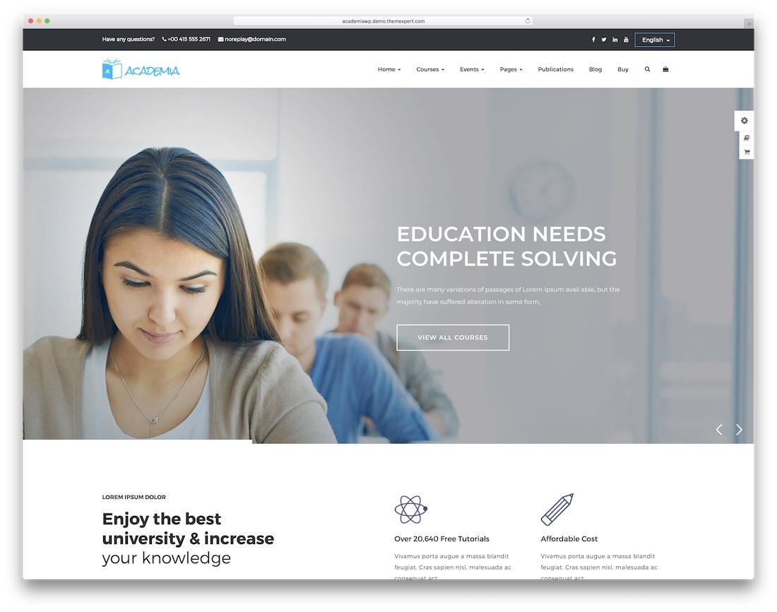 academia website template