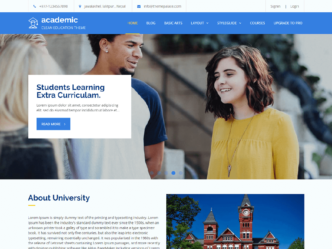 Academic WordPress Education Theme
