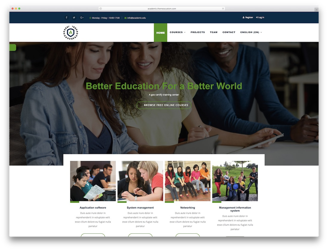 academic moodle bootstrap template