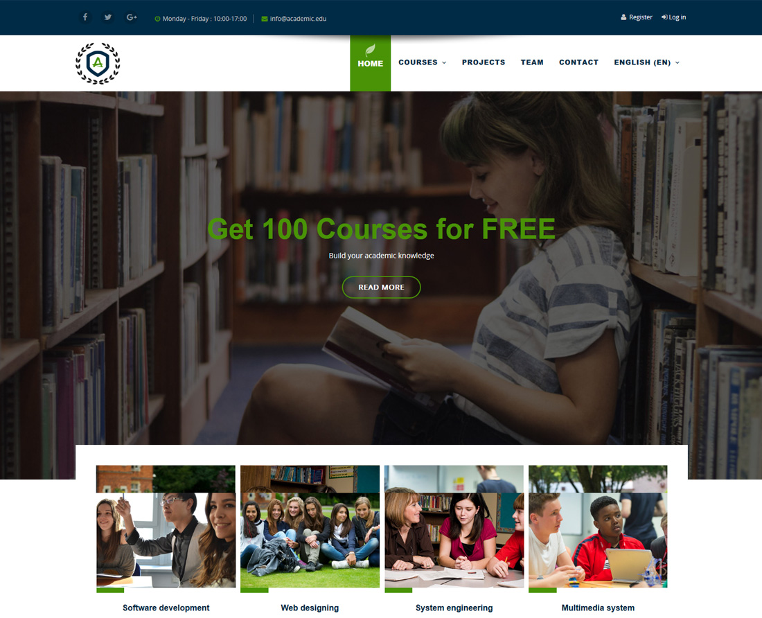 16 Best Free And Premium Moodle Bootstrap Templates For E-Learning Sites