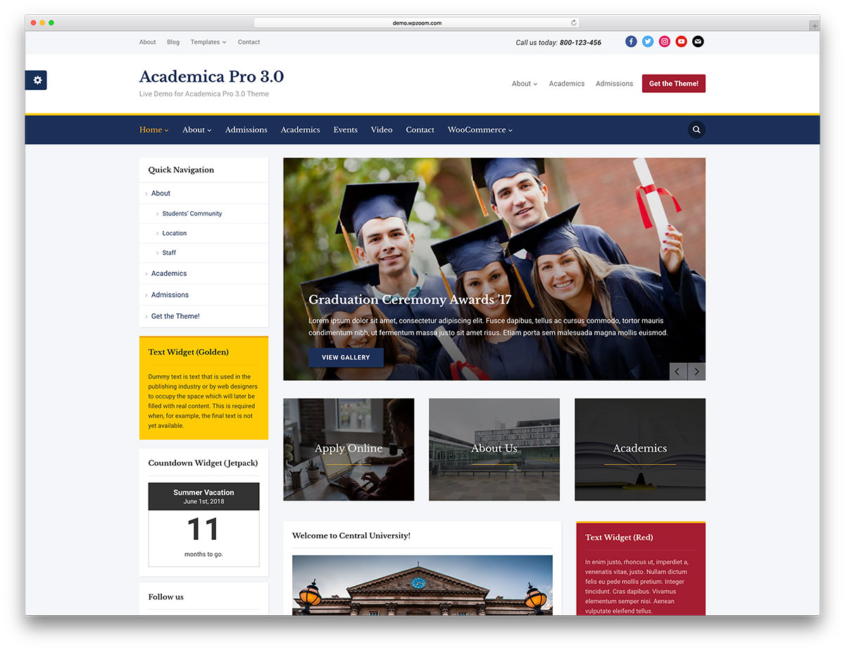 32 awesome responsive wordpress education themes 2018 colorlib academica pro is a beautiful clean and classic wordpress theme suited for education related websites such as university online courses schools and other pronofoot35fo Images