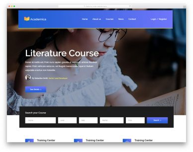 Academica Free Template