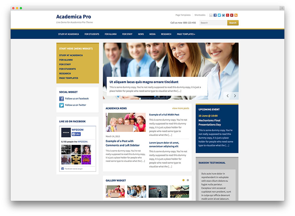 academica pro education theme