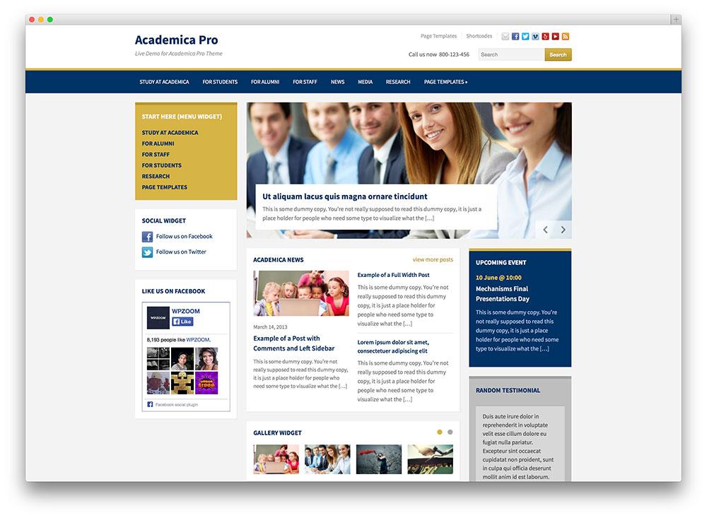 academica pro education theme