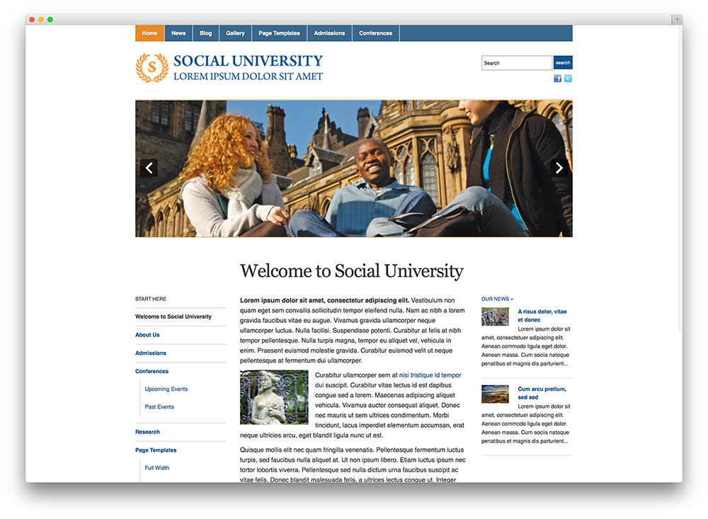 academica university wp theme
