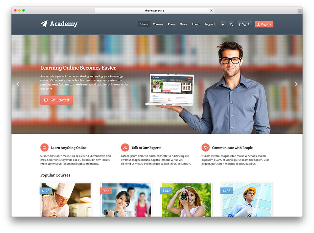 academy - online LMS management system