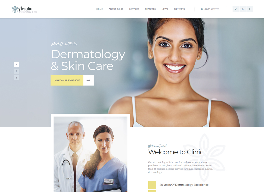 Accalia | Dermatology Clinic WordPress Theme