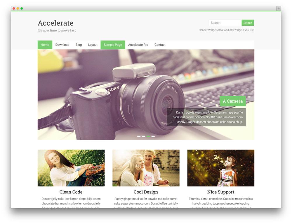accelerate - minimal portfolio theme