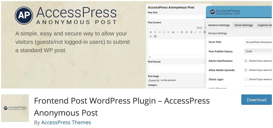 accesspress anonymous post wordpress autoblogging plugin