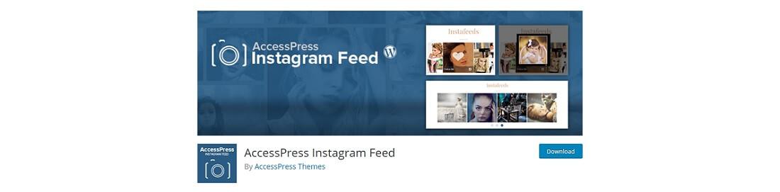 accesspress instagram feed plugin