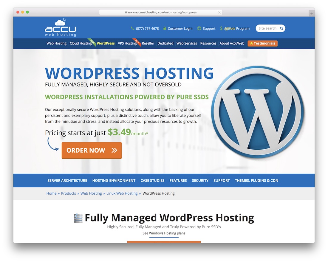 accuwebhosting cheap hosting for wordpress