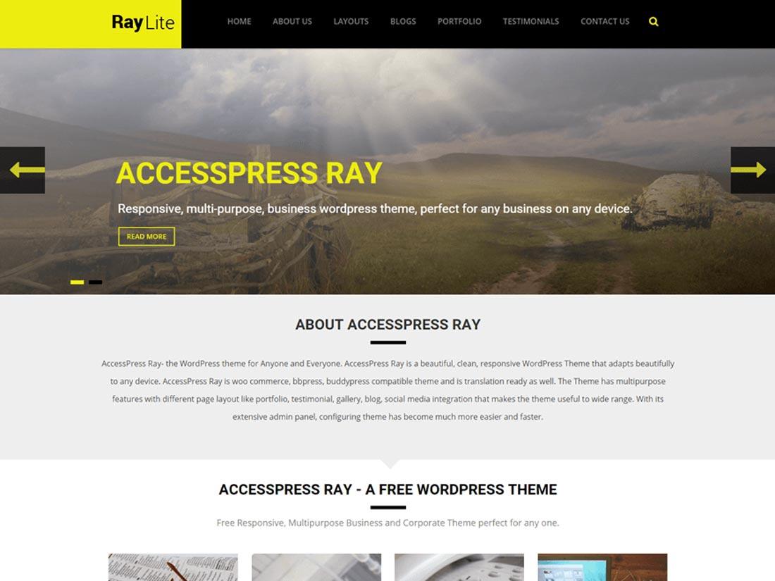 free nature WordPress themes