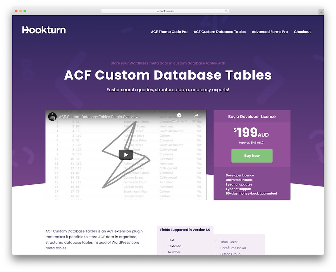custom database tables