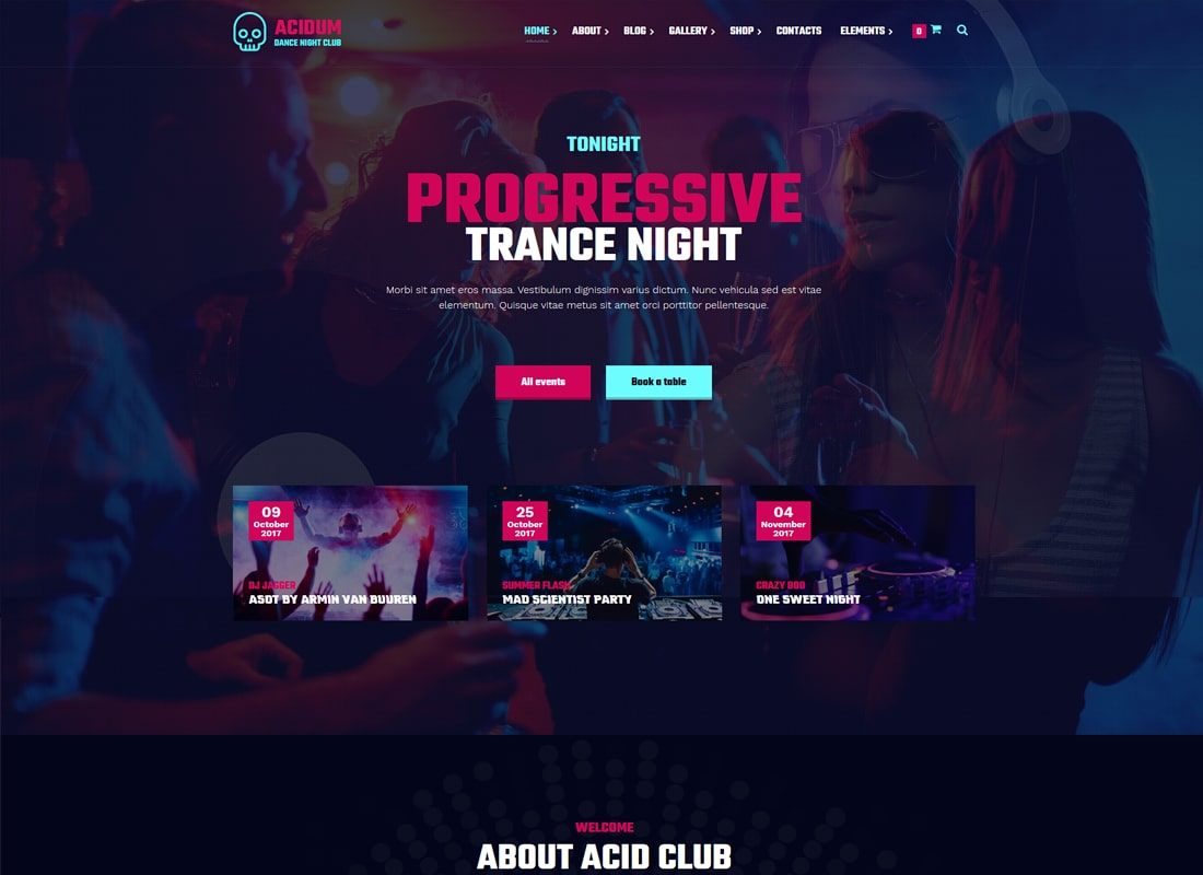10 Most Vibrant Night Club WordPress Themes - Colorlib
